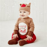 Infant Toddler Bodysuit Footies e Natal Jumpsuit Bebé Fatos de Manga Longa roupas com HAT