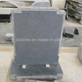 Headstones dritti europei di disegno semplice del granito