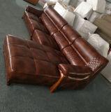 Nuovo arrivo L sofà del cuoio di figura per la mobilia del salone (A75)
