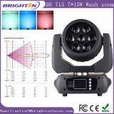 7*15W 소형 RGBW 4in1 LED 이동하는 맨 위 세척 빛
