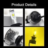 Faro doppio superiore dell'automobile del faro 12V 24V H4 LED di colore LED