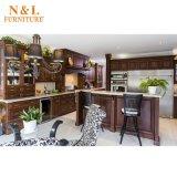 Estilo clásico americano hogar muebles de madera sólida mueble de cocina