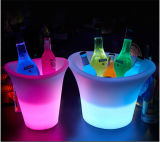 Cubeta de gelo plástica acrílica da cerveja com luz do diodo emissor de luz