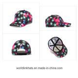 De poliéster personalizadas Nuevo Diseño de Moda starry sky Patten Gorra de béisbol con 6 Estrella Digital del panel de la tapa del deporte