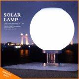 Lumière solaire de poteau d'amarrage de poste de lampe solaire de pilier avec la bille ronde