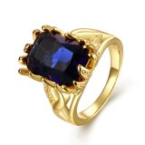 Ring van de Vrouwen Zircon van de Juwelen van de manier de Elegante Goud Geplateerde voor Partij