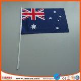 Les petites secousses Stick tenue en main d'un drapeau