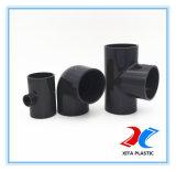 관 이음쇠 Pn16 (어두운 회색)의 PVC 물자 티