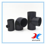 industrial PVC material Equal tea Pn16 (dark grey)