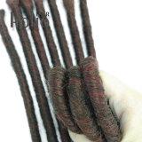 Mélange de 16 pouces Couleur de cheveux synthétiques Backcombed Single Ended dreadlocks