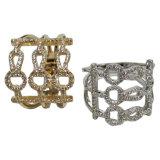 La joyería AAA CZ de la plata esterlina 925 suena la joyería plateada el oro blanco de la manera de /Rose del anillo de bodas de la mujer (R10499)