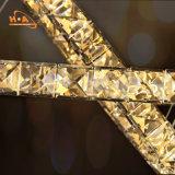 ステンレス鋼が付いている熱い販売の大きい水晶シャンデリア