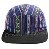 Verschluss zurück flaches kundenspezifisches Höchstemb. Baumwollschutzkappen-Hut
