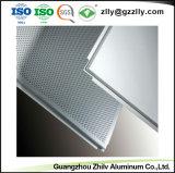 Venta caliente de fábrica en el techo de aluminio perforado para Metro