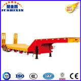 Jushixin製造業者3/4台の半車軸100t低いベッドのトレーラー