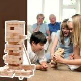 Hölzerne Kind-pädagogisches stapelndes Aufsatz-Baustein-Familien-Partei-Spiel