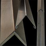 異なった終わりを用いるコーナーガードの保護装置のステンレス鋼のプロフィール
