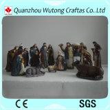 Décoration religieuse de Manger de nativité de résine d'ornement de Noël des figurines 16/S de résine faite sur commande