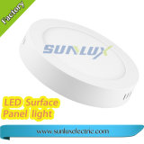 Sunlux de superficie de aluminio de 6W 9W 12W 18W 85V-265V Square Panel LED Lámpara