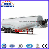 O tanque de aço do Transportador de pó petroleiro caminhão semi-reboque de cimento a granel