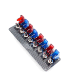 interruttore di accensione della vettura da corsa 12V comitato leva rosso blu & 1 di 4 del tasto