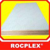 El contrachapado Rocplex Melamina blanca, melamina color bordo