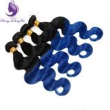 재고 1b/Blue Ombre Color Human Remy Hair Weaving