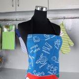 Design personalizado impresso avental de cozinha de algodão para Mulheres