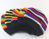 Радуга Mens женщин Unisex связанная цветастая причудливый Stripes Beanie шлема (HW126)