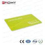 Cartão de papel térmico pré-imprimido de RFID para o pagamento do bilhete