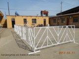 粉の上塗を施してある群集整理の塀