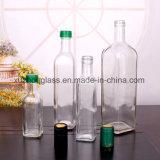 500ml frascos de óleo de vidro transparente com tampa de garrafas de azeite