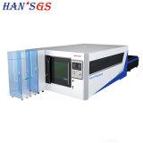 Exchangeable palete equipada em Hans GS 3000W máquina de corte a laser