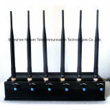 Regelbare Stationaire 6bands Stoorzender, Blocker 3G/4G Ltecellphone, 433, 315 Auto Verre Conotrol