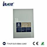 ギフトまたはビデオ挨拶状としてLCDのビデオカードかビデオパンフレット7インチ