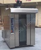 16/32/64 four rotatoire de crémaillère de gaz de machine de boulangerie de plateau avec le chariot