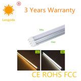 중국 제조자 9W LED 관 85-265V 90-100 Lm/W에 의하여 분리되는 관