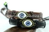 Form-Frauen-Mann-miserabele lederne Armband-Legierungwristband-Stulpe-Armband-Schmucksachen/ledernes Armband