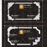 Coins et les cadres de moulage de PU panneau mural en polyuréthane Hn-8603X