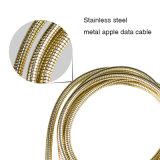 Cable de carga del USB de las ventas superiores duras y del metal durable de la aleación del cinc para el iPhone