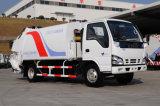 중국 Isuzu 포좌 Nkr77llpacjay 7 톤 소형 쓰레기 쓰레기 압축 분쇄기 트럭