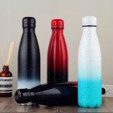 Оптовая торговля Engravable изолированный корпус из нержавеющей стали Кола формы утолщений бутылка воды