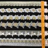 高品質の金の刺繍のより多くのパターンのための花嫁の服のレースクリック