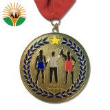 Custom дешевые металлические работает медаль с лентой