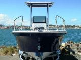 Barcos do Panga da pesca da fibra de vidro da casca de Liya 19FT V para a venda