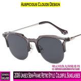 2006 Unisexc$halb-rahmen Retro Art-bunte Sonnenbrillen