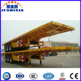 El tipo de plataforma plana de transportista de contenedores tráiler