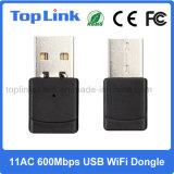 Top-4503AC 600Mbps 802.11AC se doblan tarjeta de red sin hilos del USB WiFi de la venda para el rectángulo androide de la TV
