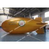 5m/6m o 8m aerostato gonfiabile lungo, aereo dell'elio, aerostato del piccolo dirigibile dell'aria per fare pubblicità