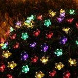 Lumières 2017 actionnées solaires imperméables à l'eau de fleur de chaîne de caractères de Noël DEL pour d'intérieur/extérieur, le patio, la pelouse, le jardin, le Noël, et les festivals de vacances